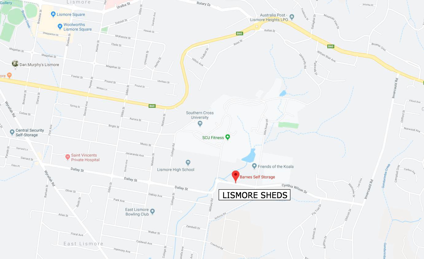 Lismore Self Storage NSW - Location Map